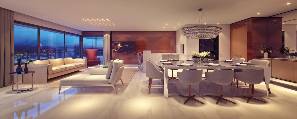 interior do apartamento 164 m2 no empreendimento Lord