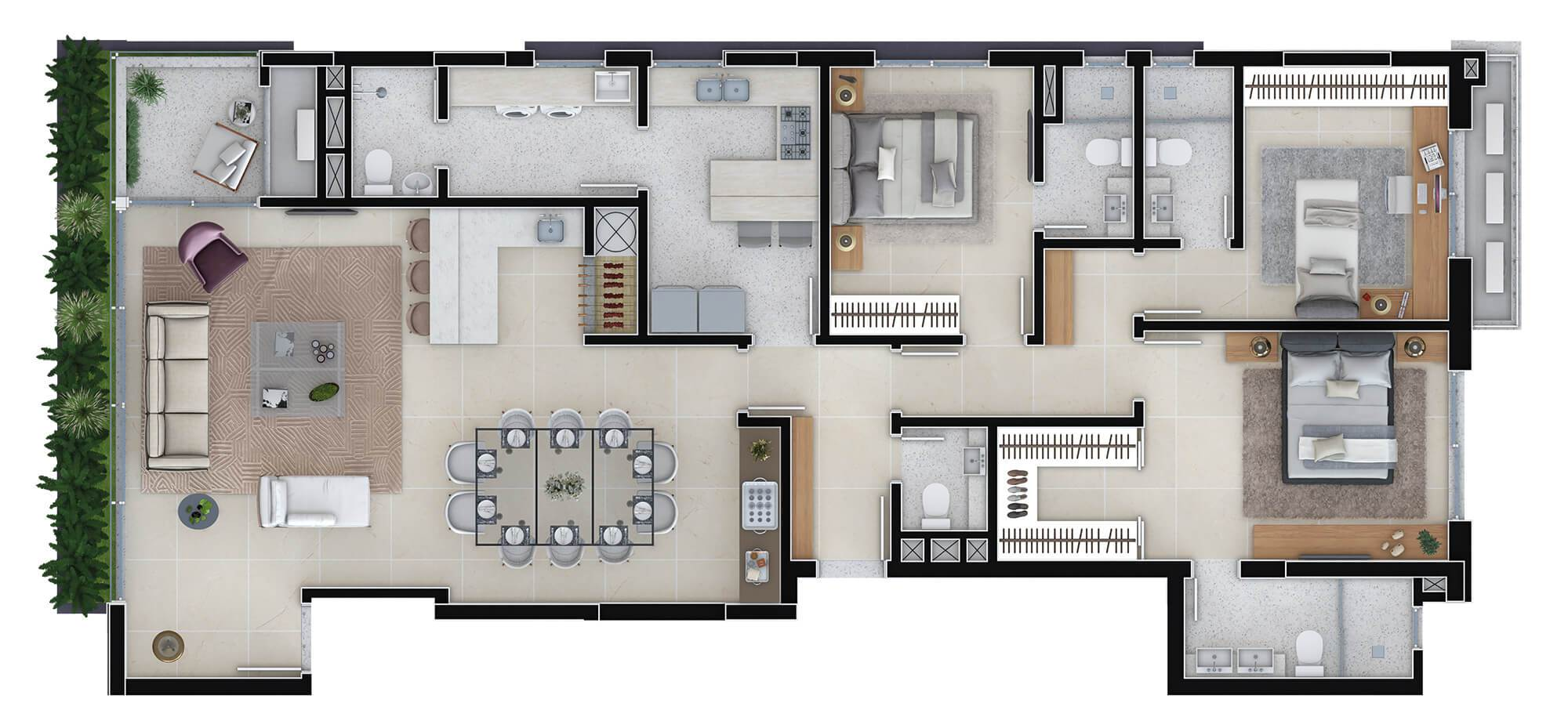 Lord planta: Apartamentos de 164,72 m²