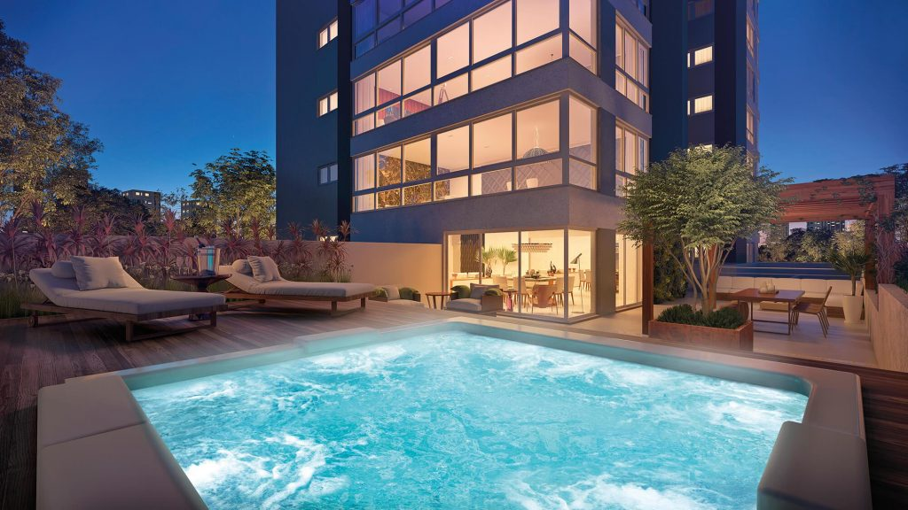 terraço do apartamento Garden no empreendimento Olimpo