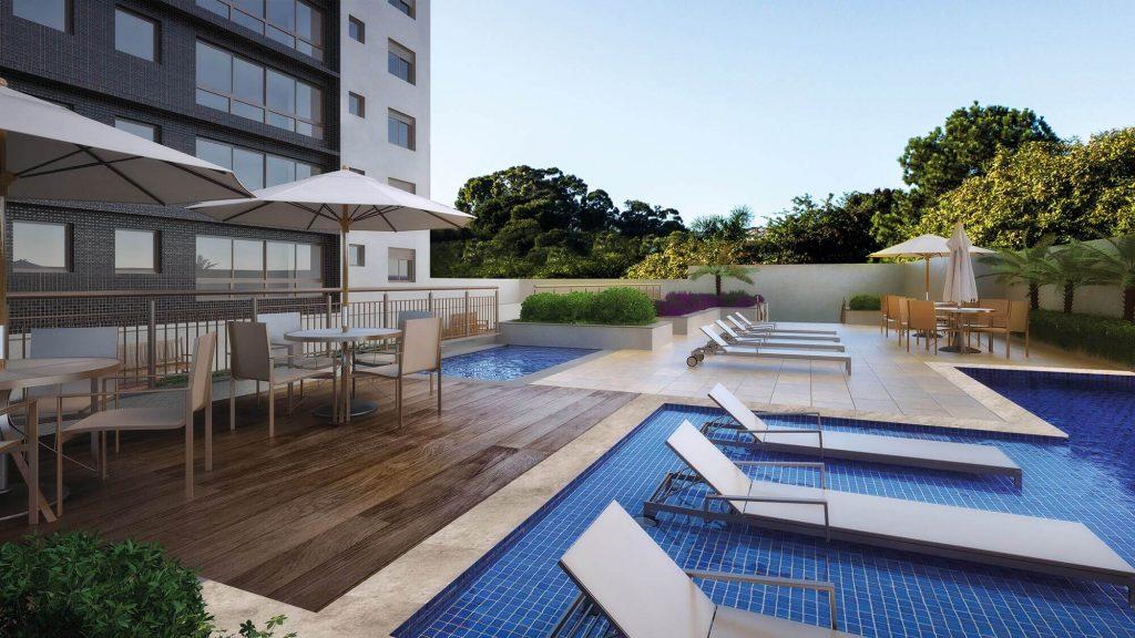 piscina do empreedimento Garden Tower