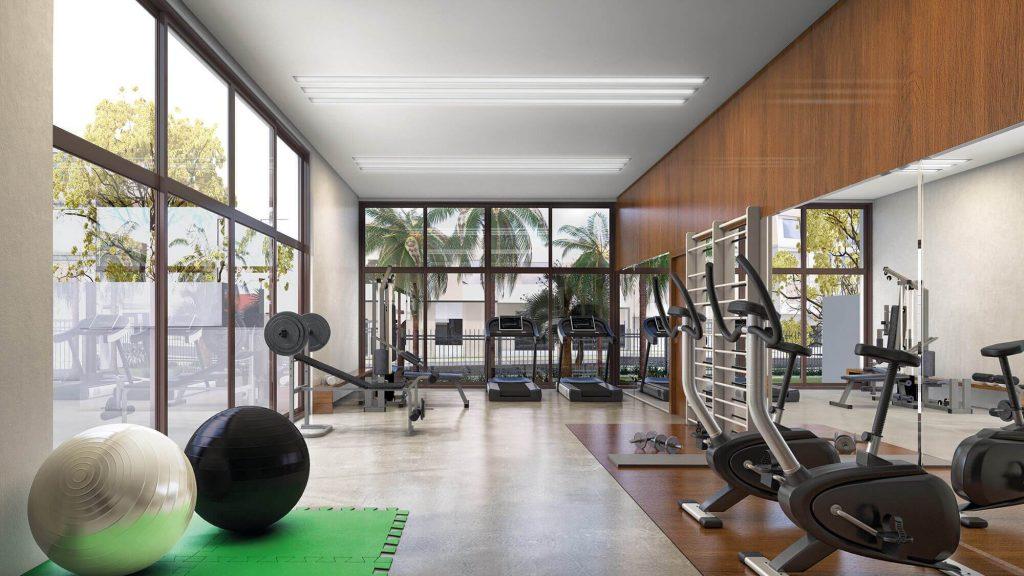 fitness do empreedimento Garden Tower