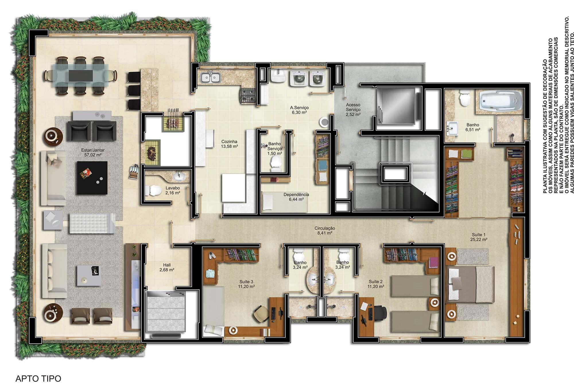 Palazzo planta: Apartamentos de 184 m²