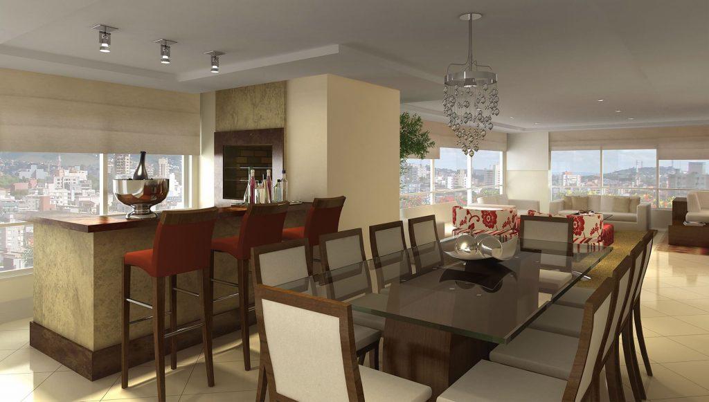 Interior do apartamento de 640m² do empreendimento Ca'd'oro