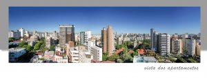 Vista dos apartamentos do empreendimento de alto padrão Olimpo