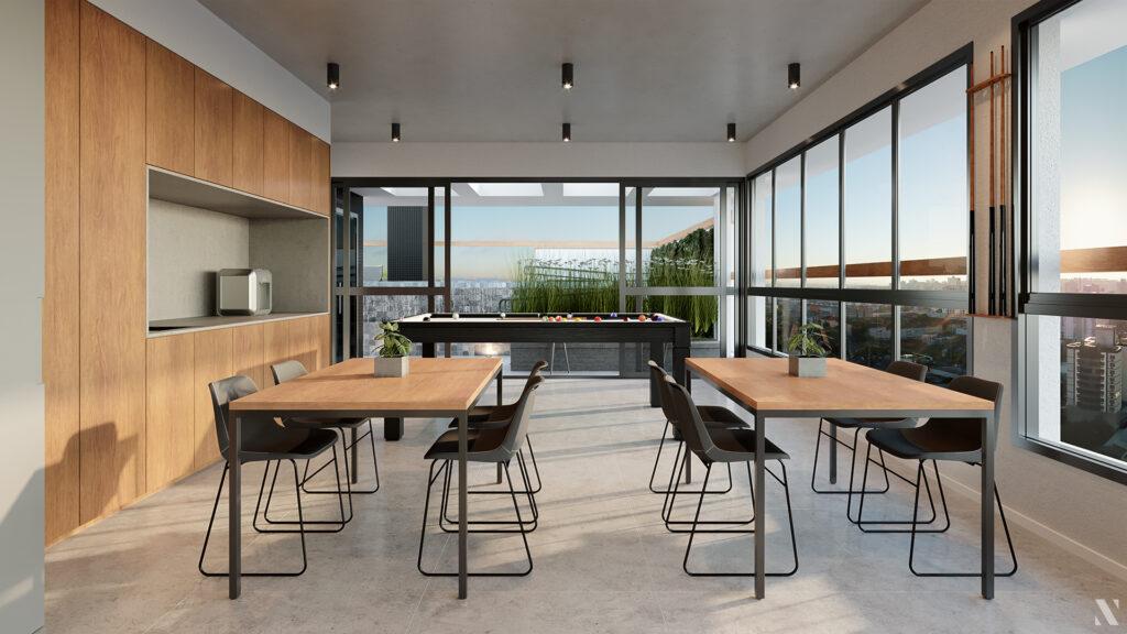Convivência Rooftop empreendimento Vida - Você em equilíbrio