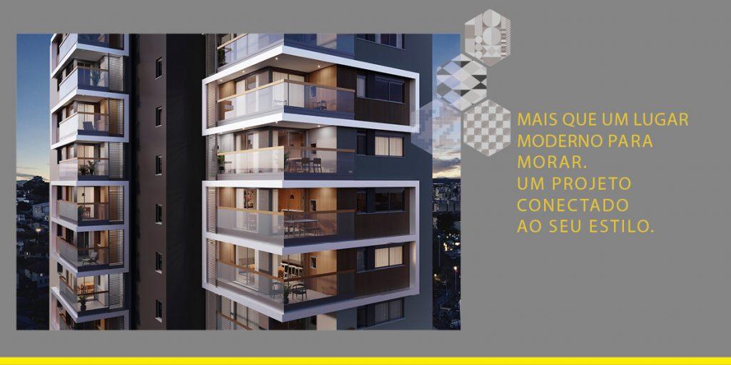 Mais que um lugar moderno para morar. Um projeto conectado ao seu estilo.